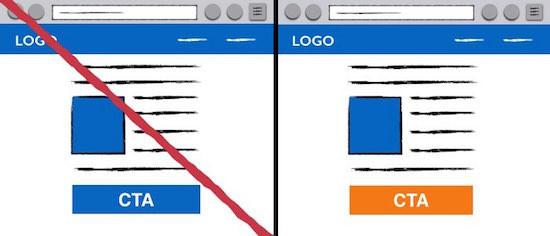 Контрастный цвет для кнопок