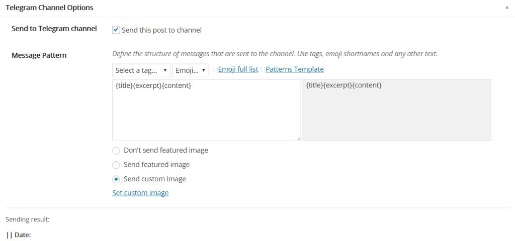 Настройка публикаций в Telegram